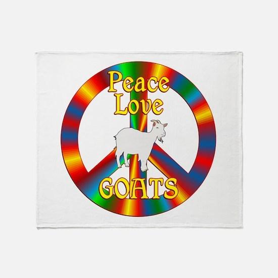 Peace Love Goats Throw Blanket