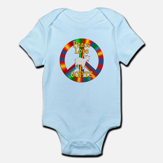 Peace Love Goats Infant Bodysuit