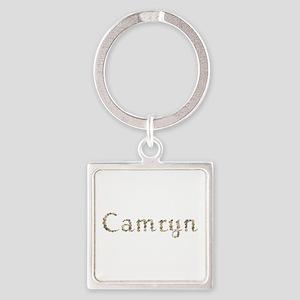 Camryn Seashells Square Keychain