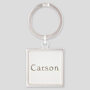 Carson Seashells Square Keychain