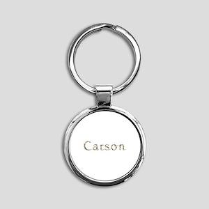 Carson Seashells Round Keychain