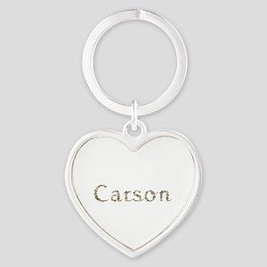 Carson Seashells Heart Keychain