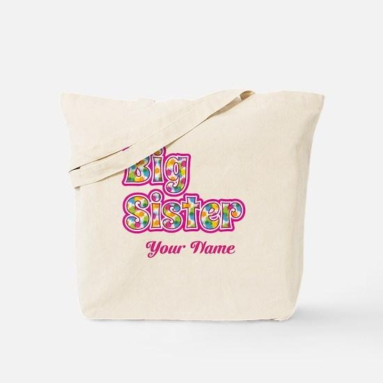 Big Sister Pink Splat - Personalized Tote Bag