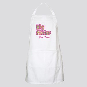 Big Sister Pink Splat - Personalized Apron