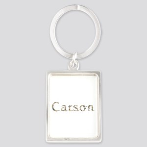 Carson Seashells Portrait Keychain