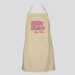 Little Sister Pink Splat - Personalized Apron