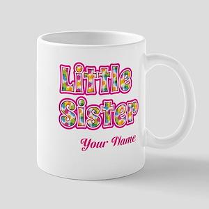 Little Sister Pink Splat - Personalized Mugs