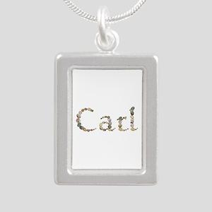 Carl Seashells Silver Portrait Necklace