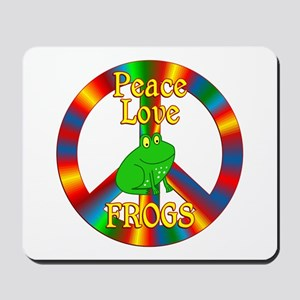 Peace Love Frogs Mousepad