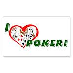 Poker Rectangle Sticker