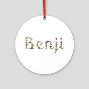Benji Seashells Round Ornament