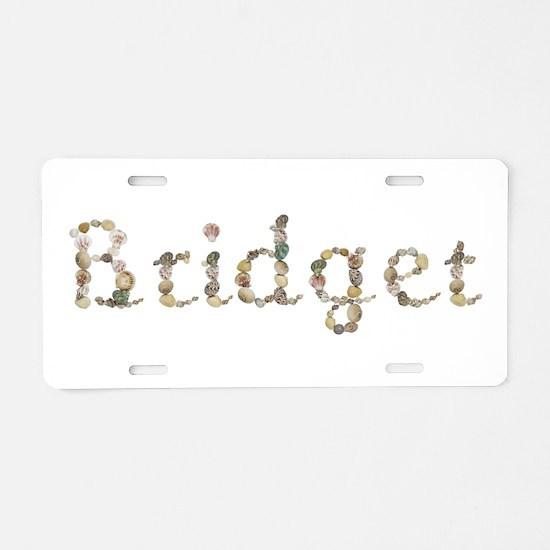 Bridget Seashells Aluminum License Plate