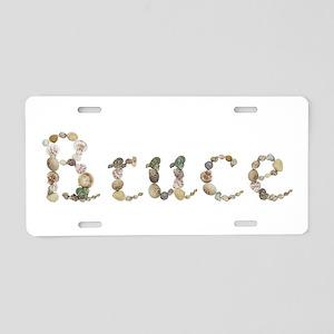 Bruce Seashells Aluminum License Plate