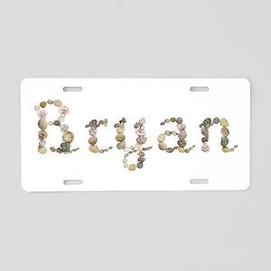 Bryan Seashells Aluminum License Plate
