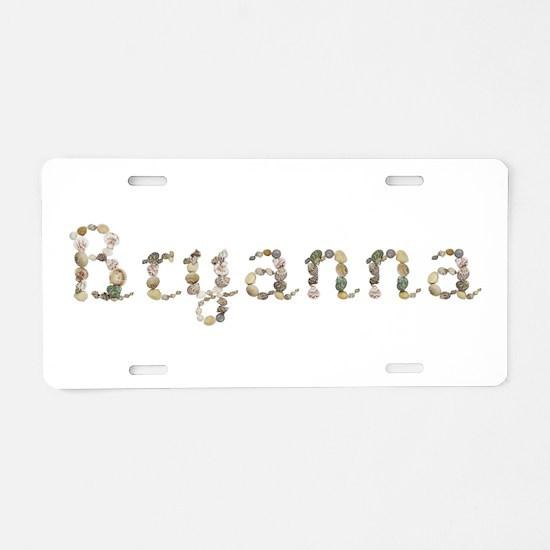 Bryanna Seashells Aluminum License Plate