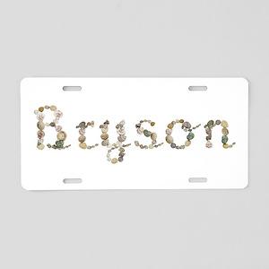 Bryson Seashells Aluminum License Plate
