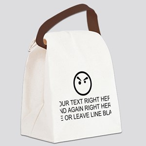 Make Your Own Masculine Font Sayi Canvas Lunch Bag