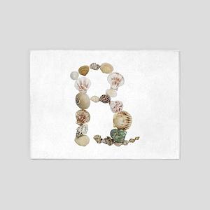 B Seashells 5'x7' Area Rug