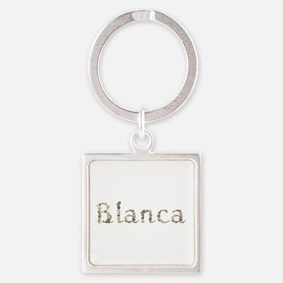 Blanca Seashells Square Keychain