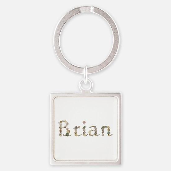 Brian Seashells Square Keychain