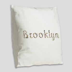 Brooklyn Seashells Burlap Throw Pillow