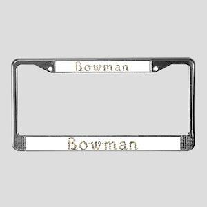 Bowman Seashells License Plate Frame