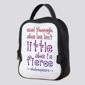 Though She Be But Little She is Neoprene Lunch Bag