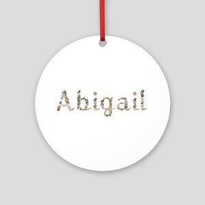 Abigail Seashells Round Ornament