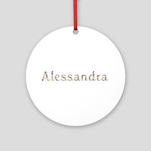 Alessandra Seashells Round Ornament