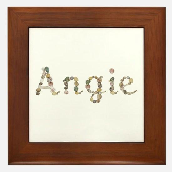 Angie Seashells Framed Tile