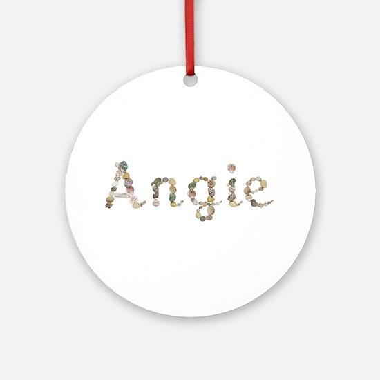 Angie Seashells Round Ornament