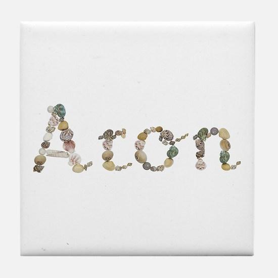 Aron Seashells Tile Coaster