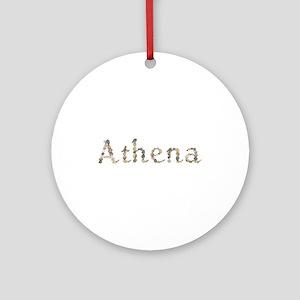 Athena Seashells Round Ornament
