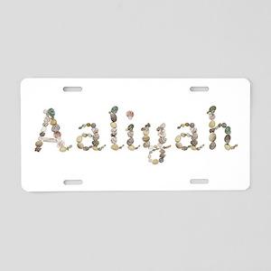 Aaliyah Seashells Aluminum License Plate