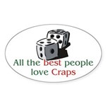 Craps Oval Sticker