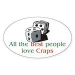 Craps Oval Sticker
