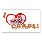 Craps Rectangle Sticker