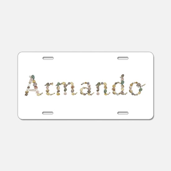 Armando Seashells Aluminum License Plate