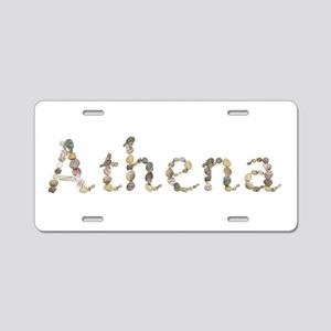 Athena Seashells Aluminum License Plate