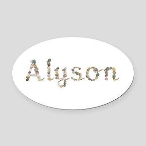 Alyson Seashells Oval Car Magnet