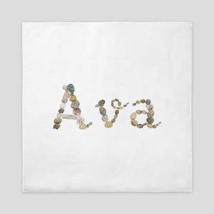 Ava Seashells Queen Duvet