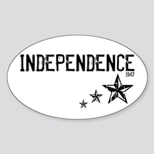 INDEPENDENCE 1947 - Oval Sticker