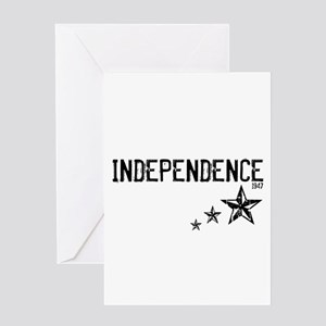 INDEPENDENCE 1947 - Greeting Card