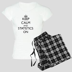 Keep Calm and Statistics ON Women's Light Pajamas