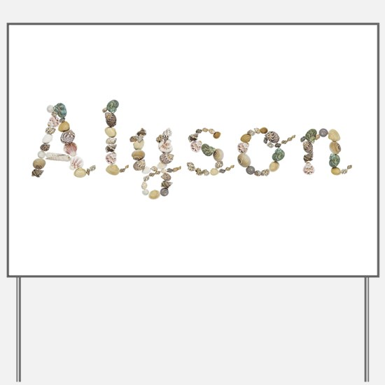 Alyson Seashells Yard Sign