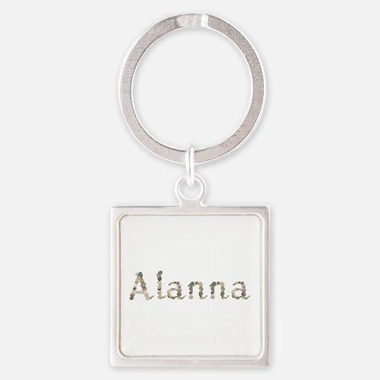 Alanna Seashells Square Keychain