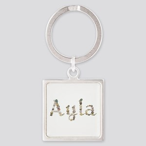 Ayla Seashells Square Keychain