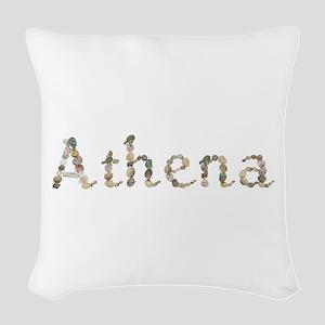 Athena Seashells Woven Throw Pillow