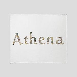Athena Seashells Throw Blanket