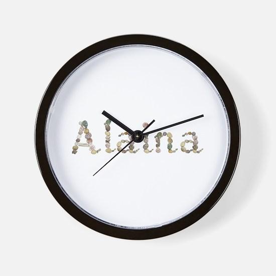 Alaina Seashells Wall Clock